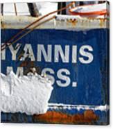 Hyannis Massachusetts Fishing Boat Canvas Print