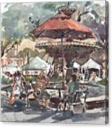 Hyde Park Market Plein Air Canvas Print