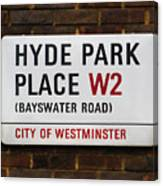 Hyde Park Place Canvas Print