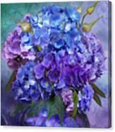 Hydrangea Bouquet - Square Canvas Print