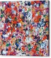 Hydrangea In Red Whirlpool Canvas Print