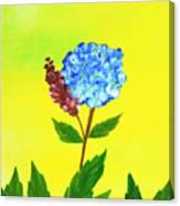 Hydrangea Watercolor Canvas Print