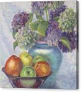 Hydrangea's And Apples Canvas Print