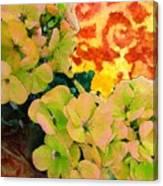 Hydrangeas And Swirls Canvas Print
