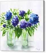 Hydrangeas At Vics  Canvas Print