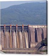 Hydroelectric Power Plants On River Canvas Print