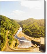 Hydropower Valley River Canvas Print