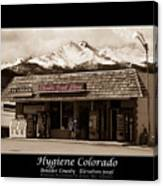 Hygiene Colorado Bw Fine Art Photography Print Canvas Print