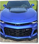 Hyper Blue Metallic 2017 Chevrolet Camaro Zl1 Canvas Print