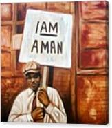 I Am A Man Canvas Print