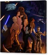 I Grew Up With Starwars Canvas Print
