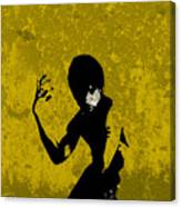 I Have A Hunch...yellow Canvas Print