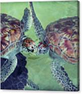 I Kissed A Turtle And I Liked It Canvas Print