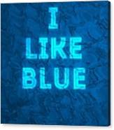 I Like Blue Canvas Print