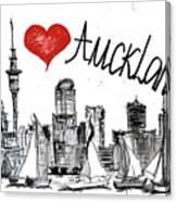 I Love Auckland  Canvas Print
