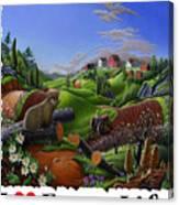 I Love Farm Life - Groundhog - Spring In Appalachia - Rural Farm Landscape Canvas Print