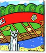 I Love My Canoe Canvas Print