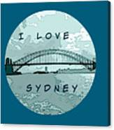 I Love Sydney Canvas Print