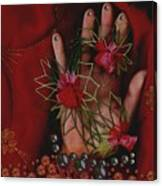 I Reach Love Peace In Life With My Hand Canvas Print
