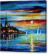 I Saw A Dream - Palette Knife Oil Painting On Canvas By Leonid Afremov Canvas Print