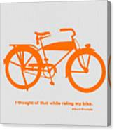I Thought Of That While Riding My Bike Canvas Print
