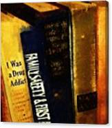 I Was A Drug Addict And Other Great Literature Canvas Print