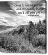 I Will Give You Rest Canvas Print