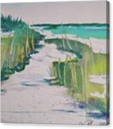 I Wish I Was In Siesta Key Canvas Print