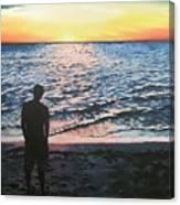 Ian's Sunset Canvas Print