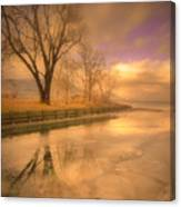 Ice And Light Canvas Print