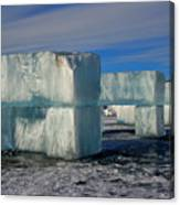 Ice Blocks Canvas Print