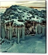 Ice Cave Of Stones Canvas Print