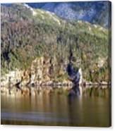 Ice Cliff In Autumn Canvas Print