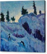 Ice Climbing Canvas Print