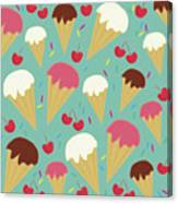 Ice Cream Cones Canvas Print