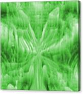 Ice Crystal Angel - Green Canvas Print