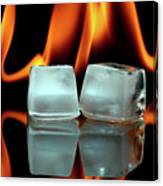 Ice Cubes On Fire Canvas Print