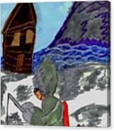 Ice Fishing Canvas Print