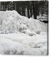 Ice Formations At Garwin Falls Canvas Print