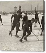 Ice Hockey 1912 Canvas Print