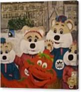 Ice Hog Family Canvas Print
