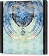 Ice Layered Effect And Framed Canvas Print