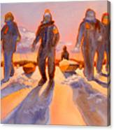 Ice Men Come Home Canvas Print