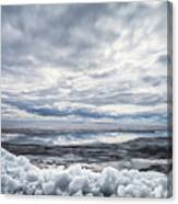 Ice On Lake Nipissing Canvas Print