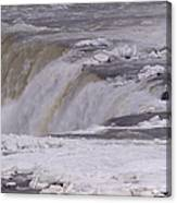Ice Over The Falls Canvas Print