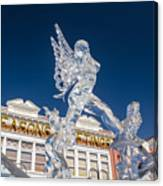 The Annual Ice Sculpting Festival In The Colorado Rockies, The Allure Of A Siren Canvas Print