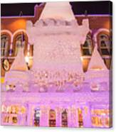 The Annual Ice Sculpting Festival In The Colorado Rockies, The Castle With A Parapet Canvas Print