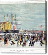 Ice Skaters, C1856 Canvas Print