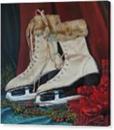 Ice Skates And Mittens Canvas Print