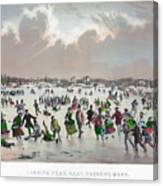 Ice Skating, C1859 Canvas Print